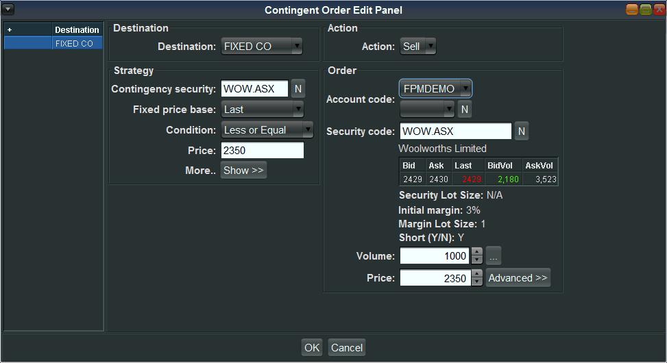 Contingent Order Pad