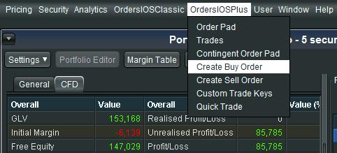 Create Buy Order