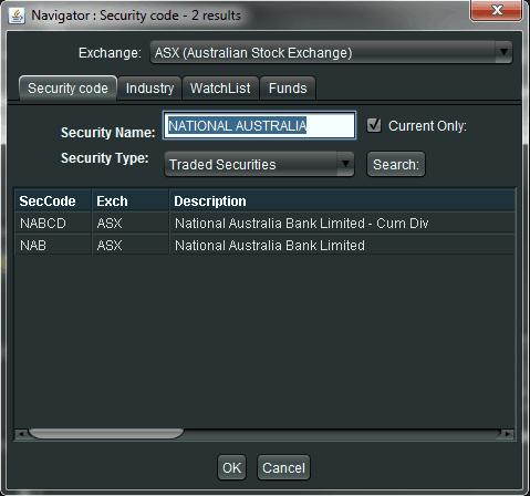Navigator Security Code